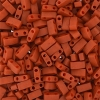 Miyuki Tila Half Cut 5X2.3mm 2Hole Dark Orange Opaque Matte